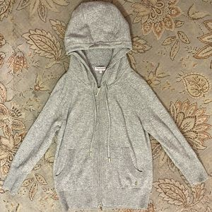 REAS. OFFERS WELCOME! in EUC Juicy Couture 100% Cashmere Gray Zip Hoodie   Sz: L